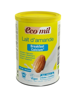 EcoMil Almond milk breakfast calcium Instant Bio 400 g