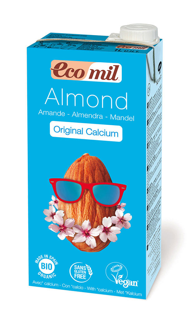 Ecomil organic almond milk calcium original 1L