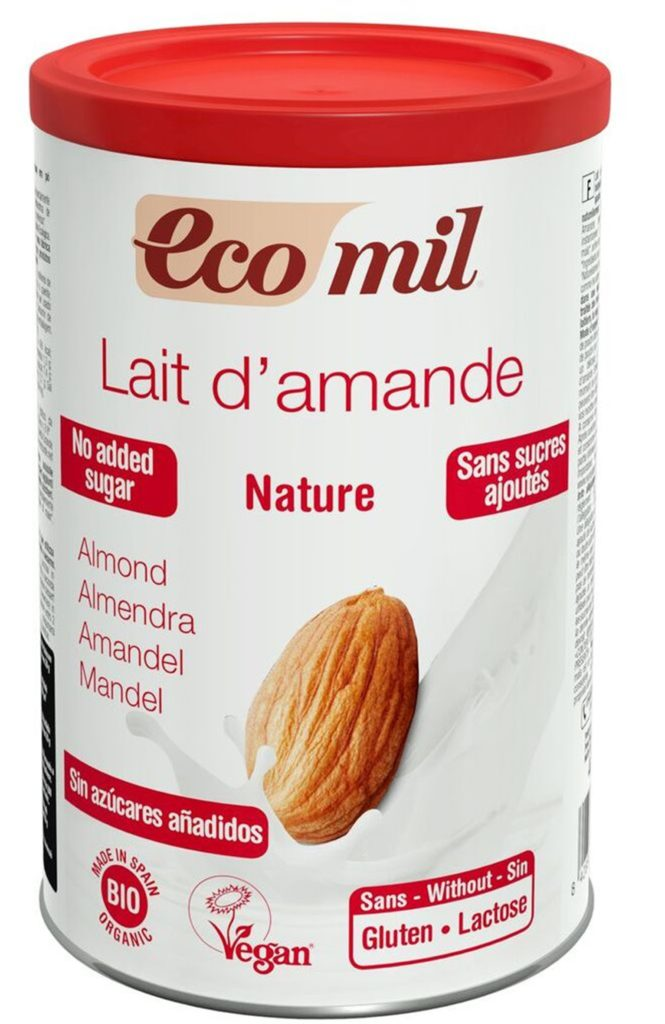 Ecomil almondmilk natural bio powder 400g Instant no added sugar