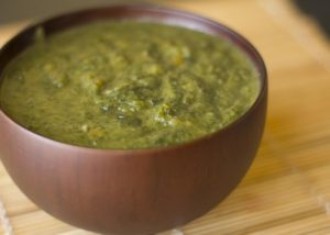Spinach coco soup
