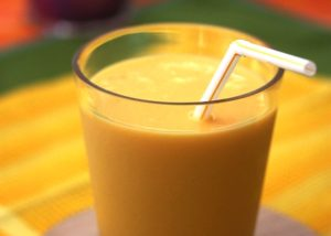 mango and hemp smoothie