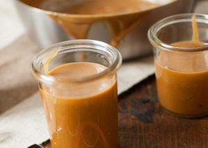 Dulce de leche with almond milk.EN