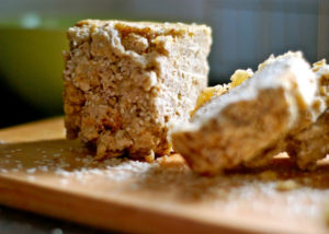 Banana bread with almond and sesame seeds