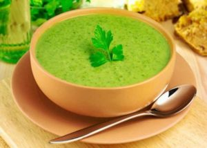 Watercress leek coconut soup ecomil almond milk sugar-free dairy-free lactose-free