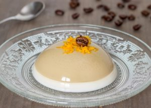 Vegan Coffee panna cotta ecomil almond cuisine