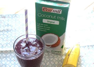 Coconut milkshake, vegan recipes, Ecomil recipes, Nossa! Fruits, Ecomil coconut milk