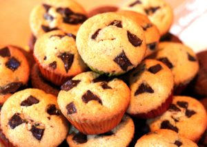 Muffins, chocolate, vegan recipe, Ecomil, almond milk