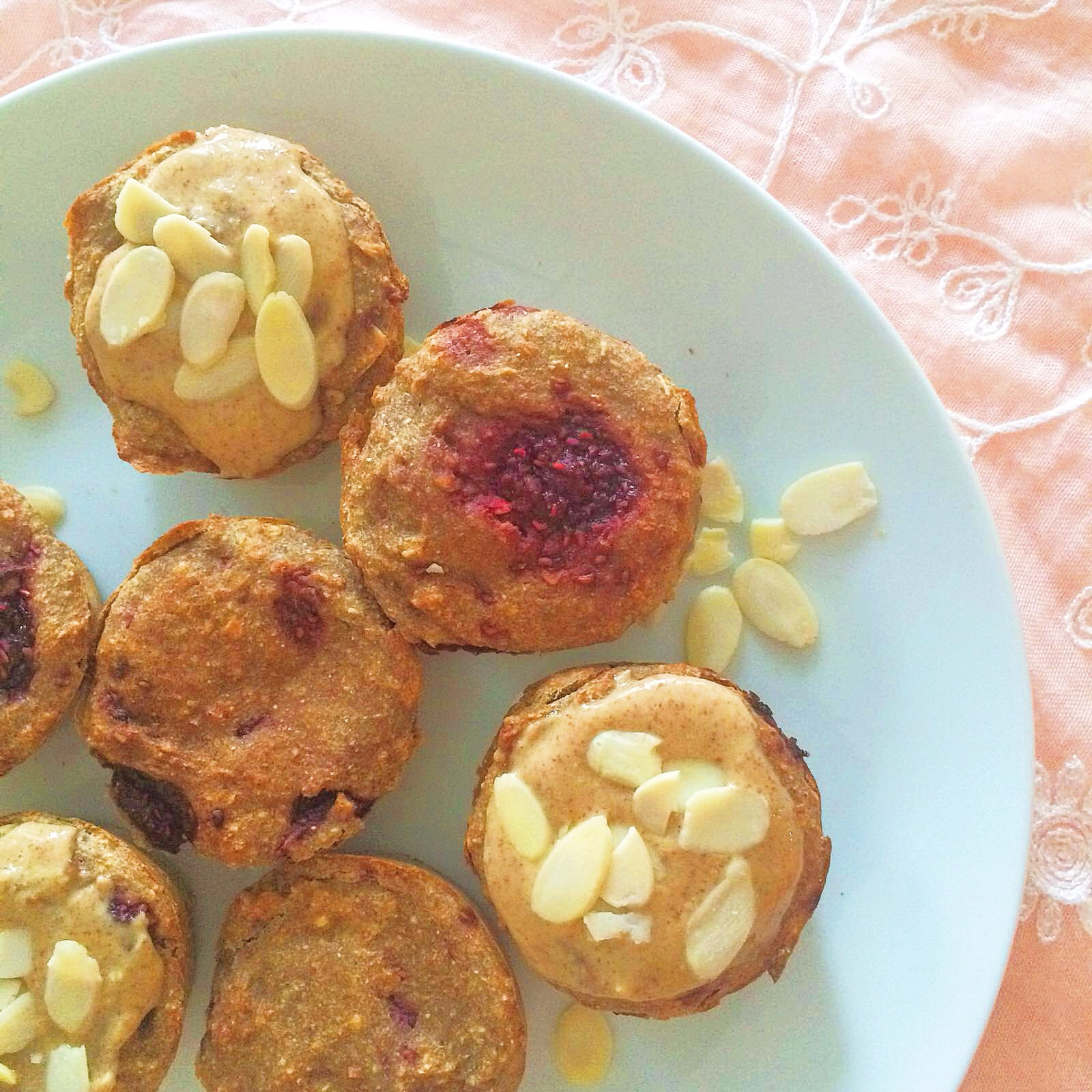 Raspberry and Almond Muffins