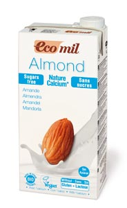 EcoMil Almond milk sugar-free calcium Bio 1 L