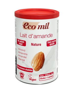 EcoMil Almond milk no added sugars Instant Bio 400 g